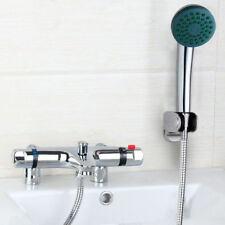 Deck Mounted Thermostatic Faucet Bath Tub Mixer Tap With Handheld Shower Set