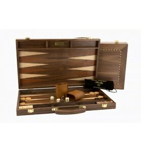 Dal Rossi Walnut 15 Inch Timber Backgammon Set NEW!