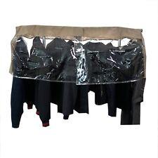 "Closet Rod Portable Clothing Rack Shoulder Garment Dust Cover Adjustable 48"" L"