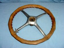 Vintage DILL Wood Wooden Locking Big Man Steering Wheel Hot Rat Rod Boat Antique