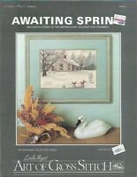 Awaiting Spring for Counted Cross Stitch Linda Myers Leaflet DC-5 w/ Print