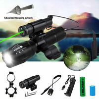 Combo Green/RED Laser Sight LED Tactical Flashlight Picatinny Rail for Hunting