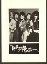 Steven Morrissey NEW YORK DOLLS 1995 limited edition illustrated book