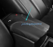 Carbon Fiber leather Armrest Box Decor Cover Trim For Nissan Rogue X-Trail 14-19