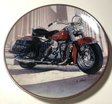 Franklin Mint Harley-Davidson 49 Pan Head Collector Plate Motorcycle #Ha4192