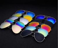 Unisex Men Women Fashion Aviator Mirror Lens Sunglasses Vintage Retro Glasses.