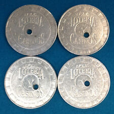 SET OF FOUR LOTERIA CASINO SLOT TOKENS BUENOS AIRES ARGENTINA - FREE SHIPPING