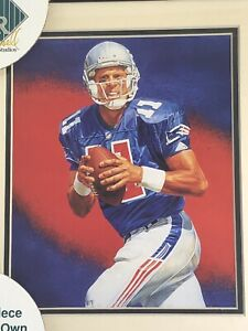 1995 Drew Bledsoe New England Patriots Framed Kelly Russell Lithograph Print 474
