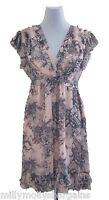 New Womens Grey & Pink NEXT Dress Size 10 RRP £55
