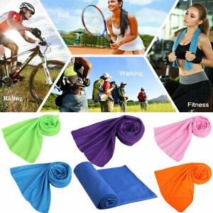 Instant Cooling Towel ICE Cold Golf Cycling Jogging Gym Sports Outdoor Towel UK.
