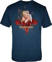 Van Halen Smoking Baby Officially Licensed Navy Rock T-Shirt Adult XL Tee