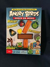 Angry Birds Knock On Wood Board Game by Mattel 2010 Complete