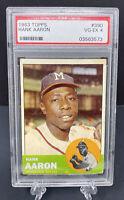 1963 Topps Hank Aaron #390 PSA 4 Milwaukee Braves MLB