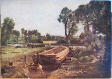 Art Postcard JOHN CONSTABLE Painting BOAT BUILDING UK British Landscape 4x6