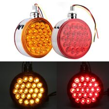 Round Red/Amber LED Lights Truck Trailer Double Face Fender Marker Light LY