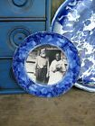 Sm  Antique Flow Blue Plate English Cecil Pattern Old Photo Print