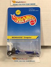 Mongoose Dragster No. 90 * BLUE * Hot Wheels * G54