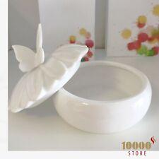 Bomboniera matrimonio anniversario comunione portagioie in porcellana farfalla