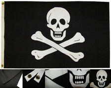 3x5 Embroidered Sewn Edward England Pirate No Patch 100% Cotton Flag Made in Usa