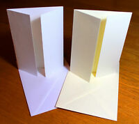 A6 Card Blanks & Envelopes Wedding Invitations Card Making Craft Linen Texture