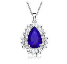 """Angel Tears"" AAA Cubic Zirconia Gemstones Pendant Necklace Luxury Gift Box"
