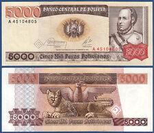 BOLIVIEN / BOLIVIA  5000 Pesos 1984 UNC  P.168