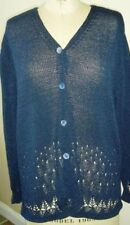 DAVID DART DARK BLUE CARDIGAN Size M