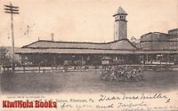 Postcard P and R Railroad Station Allentown PA