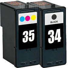 34 Black & 35 Color Ink  Combo For Lexmark P915 P4330 P4350 P6250 P6350 P8350