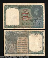BURMA on INDIA 1 RUPEE P30 1947 KING GEORGE VI *WITHOUT* PIN HOLES COIN CURRENCY