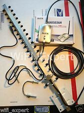 WiFi Antenna 18dBi YAGI + ALFA G Super Long Range Booster GET FREE INTERNET