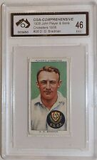 1938 John Player & Sons Don Bradman Card Graded Excellent