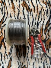"""1/8"""" Stainless Steel Aircraft Cable For Deck Railing 300ft 7x7 & Cable Cutters"""