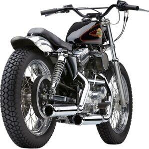 Cobra Slip-On Exhaust for 09-13 Harley XL883N Raven Black // 3