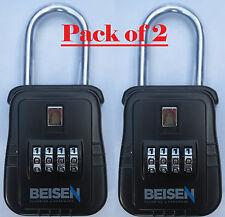 PACK OF 2 - Lockbox key lock box for realtor real estate 4 digit