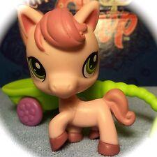 Littlest Pet Shop #1331 Pink Horse w/ Green Eyes & Accessory