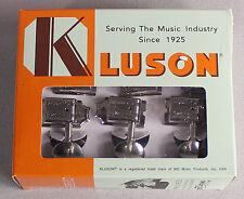 Kluson Deluxe Double Line Tuners Tuning Keys Fits Vintage Fender® Nickel