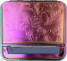 Zigarettenfertiger Rainbow / Zigaretten-Rollbox / Metall / Gravurfeld / Ornament