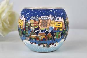Leuchtglas 21810 Christmas Fair 11cm Kerzenhalter Teelichthalter Kerzenfarm