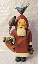 Vintage Christmas Ornament Santa Feeding Birds Out Of Hand Leather Satchel