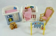 Loving Family Nursery Set Musical Crib Changing Table Rocking Chair Toy Blanket