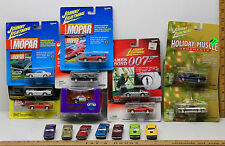17 Johnny Lightning Die Cast Cars Muscle Dragsters USA Bond 007 Holiday Ornament