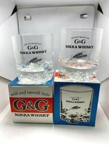 Vintage Nikka Whisky G&G Short Glass KAKUBIN Limited Pair From Japan ニッカウイスキー