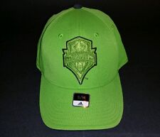 Adidas Seattle Sounders Hat, Green, Size S/M