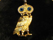 Vintage 18K Gold Pendant Owl  Marked 750  5.9 G Excellent!