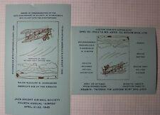 Jack Knight Air Mail Society Annual AIRPEX 1945 Philatelic Souvenir Ad Label