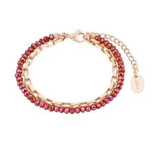 S.Oliver Jewel Ladies Chain Bracelet Stainless Steel IP Rosé 2028480