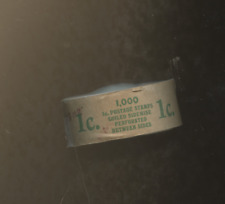 ONE 1923  Full Coil of 1000 1c Scott 597 BENJAMIN FRANKLIN STAMP ROLL