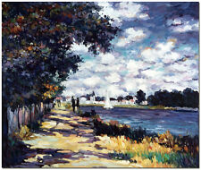 Hand Painted Claude Monet Oil Painting On Canvas Wall Art - Seine at Argenteuil
