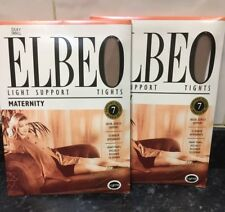 1 Pair MATERNITY TIGHTS ELBEO SIZE SMALL.  SUPPORT  SILKY LIGHT